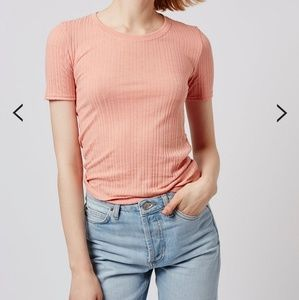 Tops - Topshop Ribbed Short Sleeved Shirt